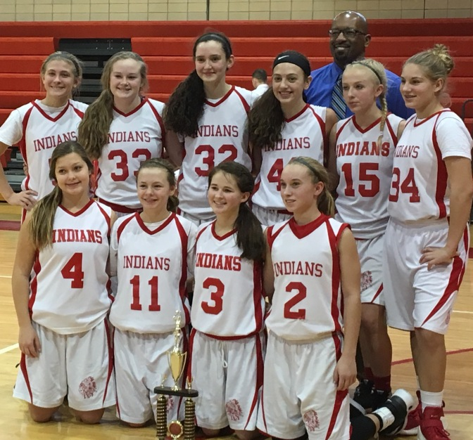 8th Grade Girls Win RJB Invitational