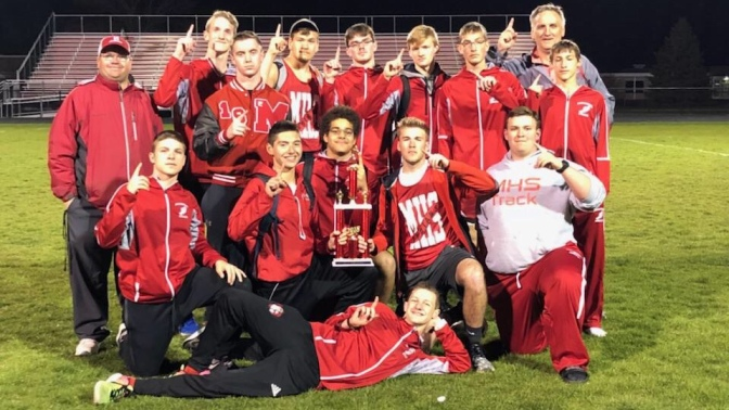 Invitational Title, Meet Record, and Double-Header Results