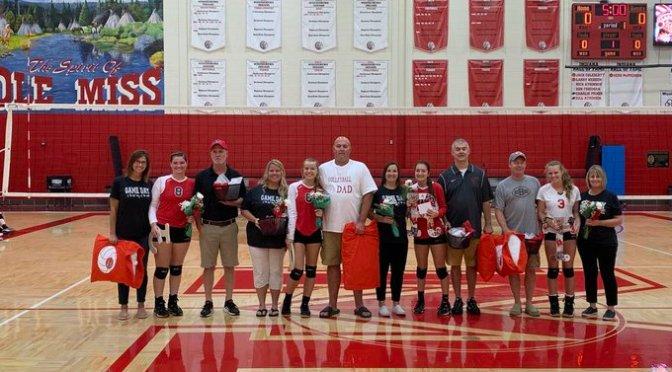 Volleyball wins senior night