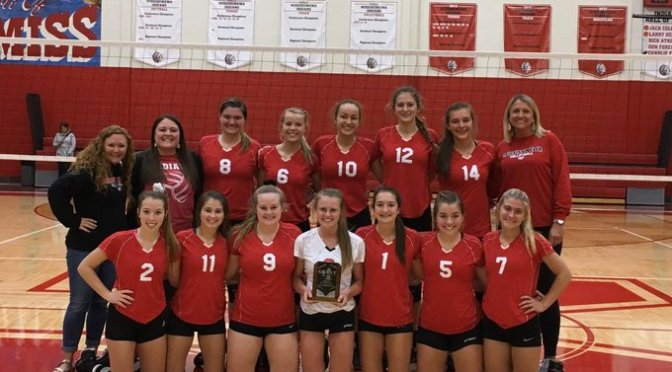 Volleyball goes 3 peat, Indians win the weekend